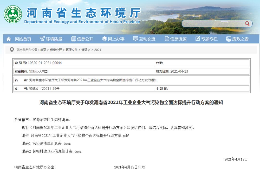 加强监测监控设施安装与管理!河南环保督查再升级!
